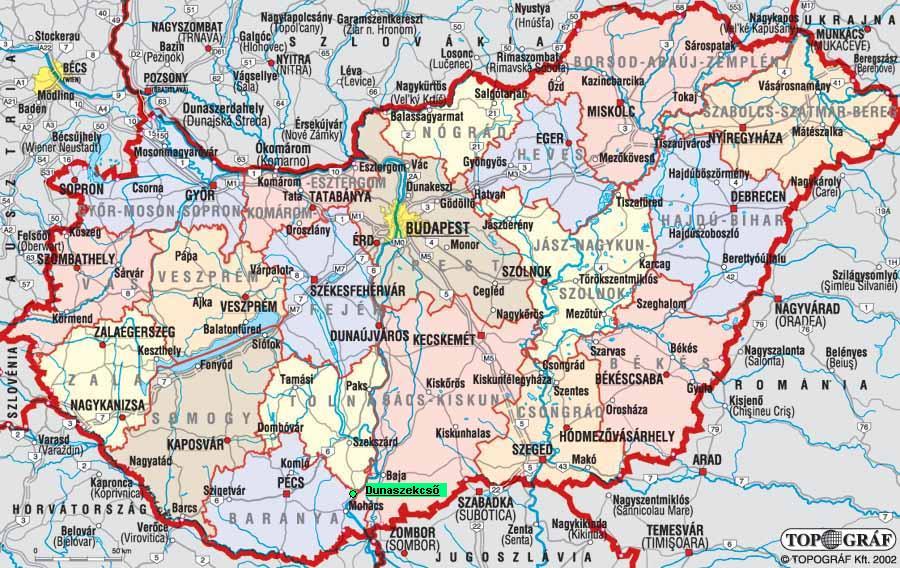 térkép hu magyarország Dunaszekcső térkép hu magyarország